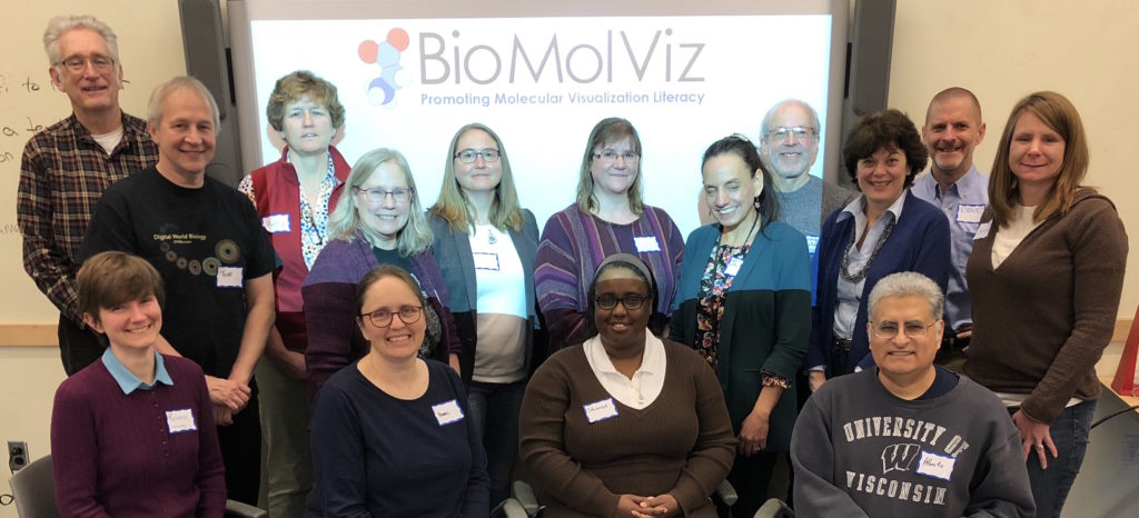 BioMolViz 2019 Delaware workshop attendees